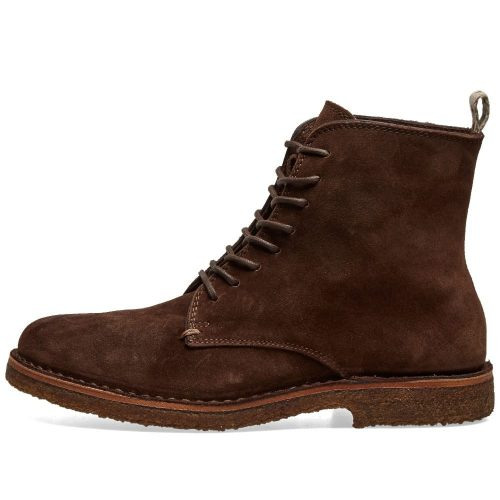 Mens Astorflex Bootflex Boot in Dark Chestnut Suede