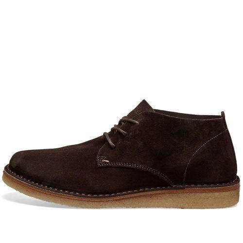 Mens Astorflex Ettoflex Wedge Sole Suede Boot in Brown