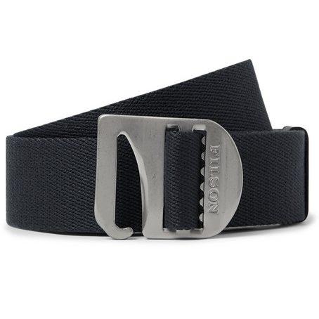 Mens Filson Charcoal Togiak 4cm Leather-trimmed Webbing Belt in Charcoal