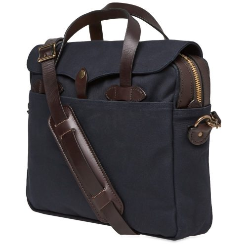 Mens Filson Original Briefcase Bag in Navy Blue