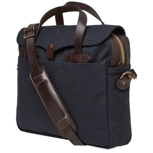 Mens Filson Original Briefcase Bag in Navy Blue