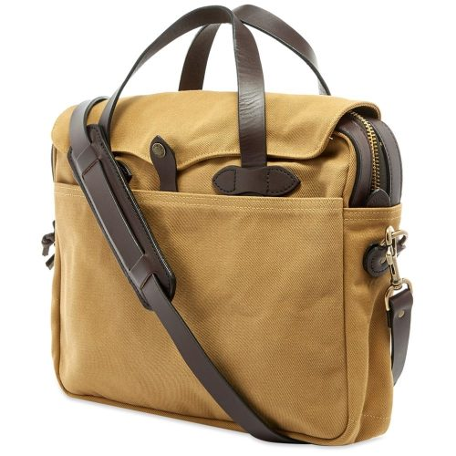 Mens Filson Original Briefcase Bag in Tan