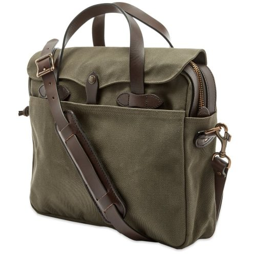 Mens Filson Original Briefcase Bag in Otter Green