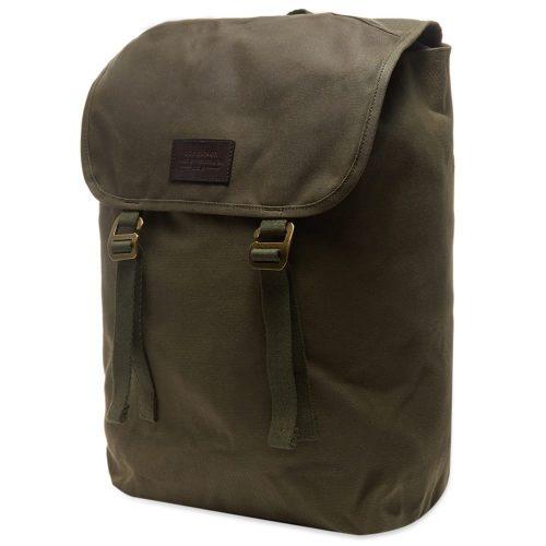 Mens Filson Rugged Twill Ranger Backpack in Green