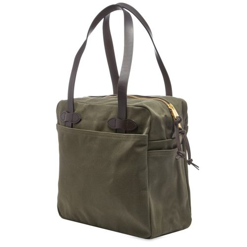 Mens Filson Zip Tote Bag in Otter Green