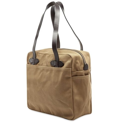 Mens Filson Zip Tote Bag in Tan