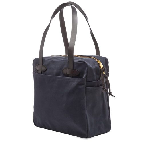 Mens Filson Zip Tote Bag in Navy Blue