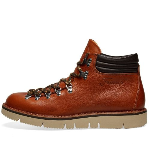 Mens Fracap M127 Cut Vibram Sole Scarponcino Boot in Cognac Brown