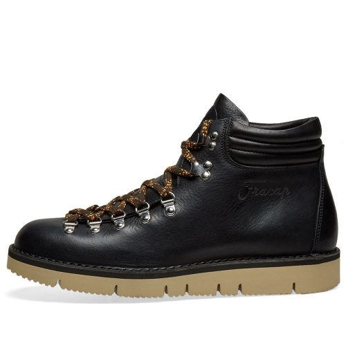 Mens Fracap M127 Cut Vibram Sole Scarponcino Boot in Black