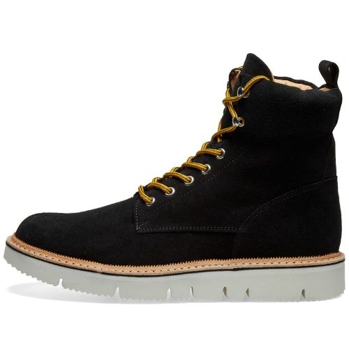 Mens Fracap Z525 Explorer Zig-Zag Guardolo Boot in Black Suede