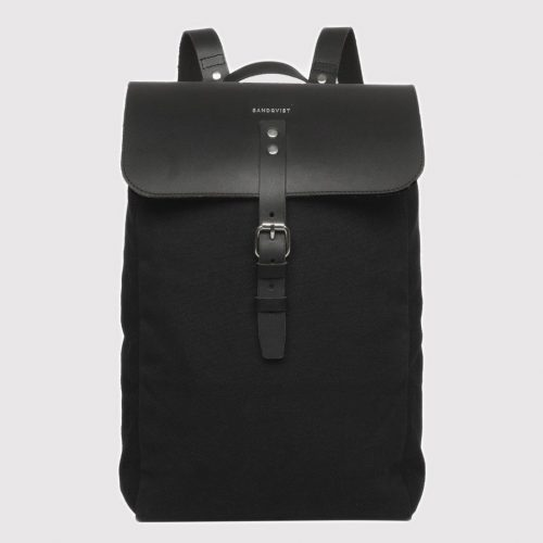 Mens Sandqvist Alva Backpack in Black