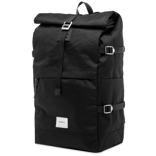 Mens Sandqvist Bernt Cordura Rolltop Backpack in Black
