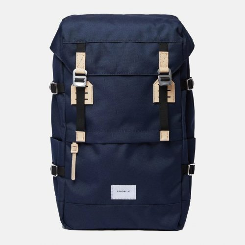 Mens Sandqvist Harald Backpack in Navy Blue