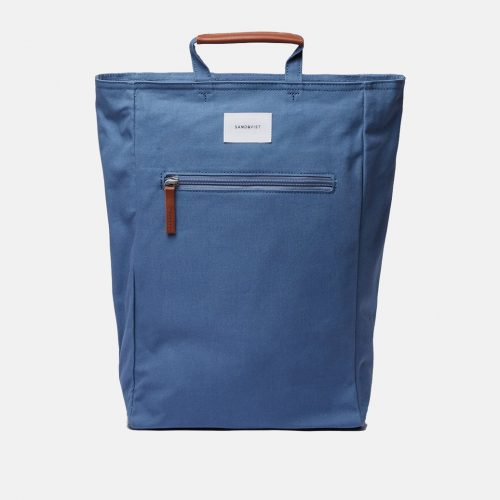 Mens Sandqvist Tony Tote Bag in Dusty Blue