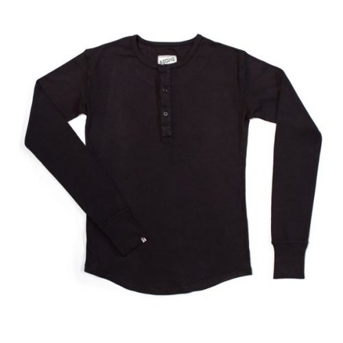 Mens &SONS Elder Henley T Shirt in Black