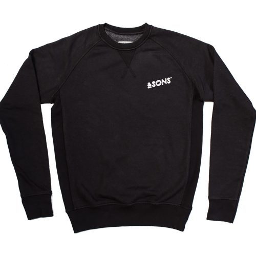 Mens &SONS Logo Sweatshirt in Black