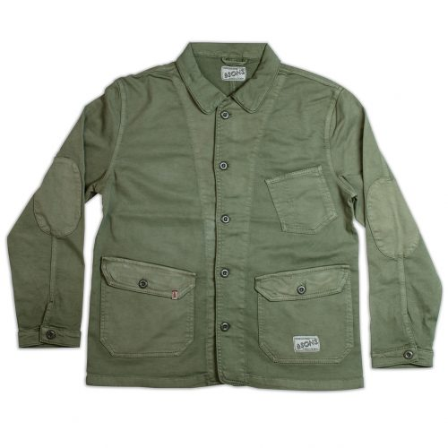 Mens &SONS Carver II Jacket in Army Green