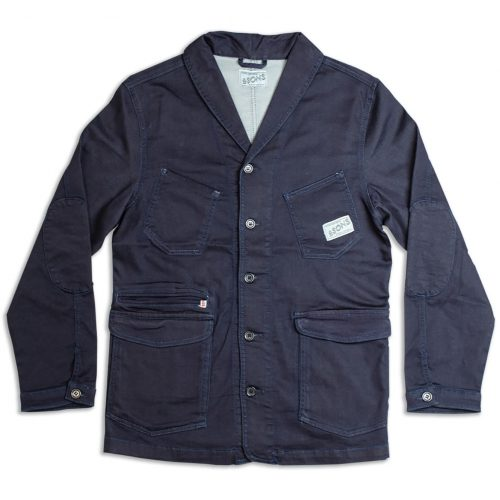 Mens &SONS Crafter II Chore Jacket in Raw Navy