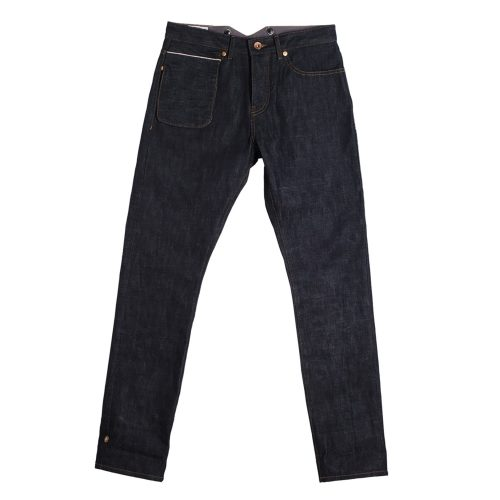 Mens &SONS Frontier 12Oz Selvedge Denim Jeans in Blue