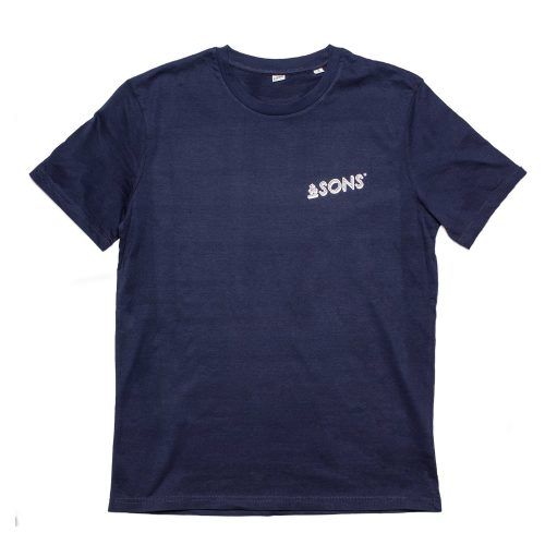 Mens &SONS Logo T-Shirt in Navy