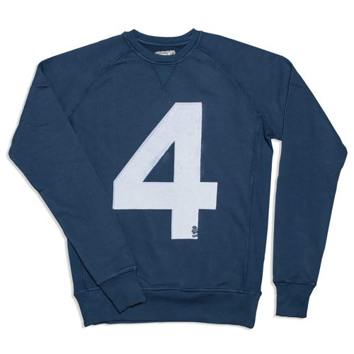 Mens &SONS Lucky No.4 American Sweatshirt in Indigo