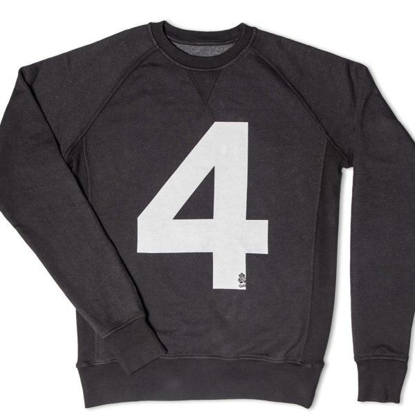 Mens &SONS No.4 American Sweatshirt in Black