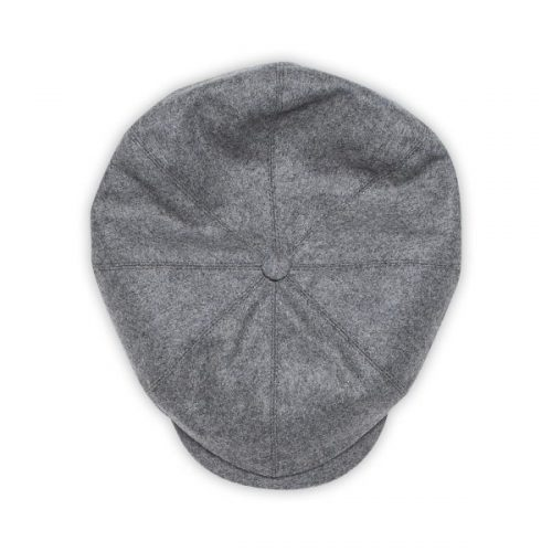 Mens &SONS & Sons Jackson Traditional Baker Boy Hat in Grey