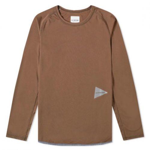 And Wander Long Sleeve Dry Raglan T-shirt Mens Beige