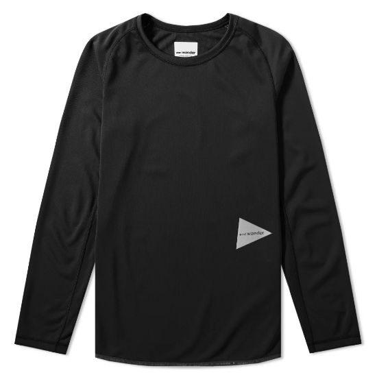 And Wander Long Sleeve Dry Raglan T-shirt Mens Black