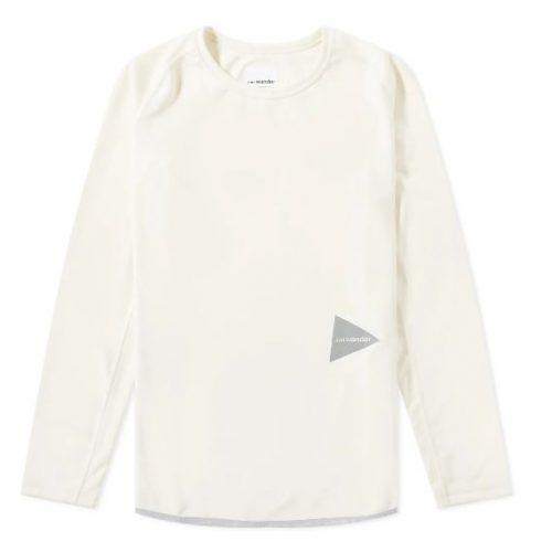And Wander Long Sleeve Dry Raglan T-Shirt Mens Off White