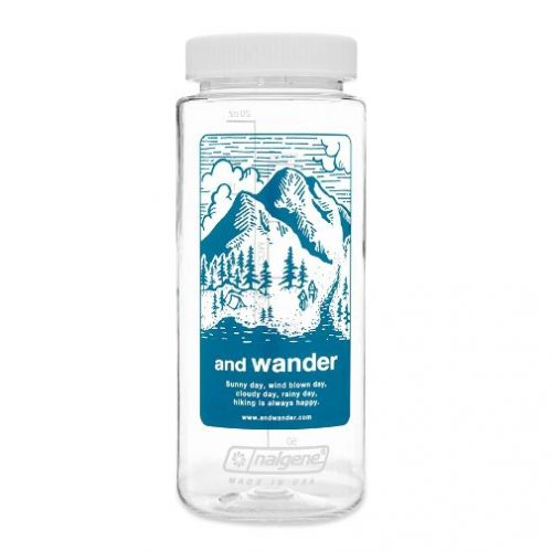 And Wander x Nalgene Bottle Blue