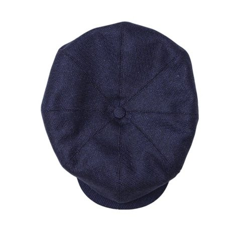 Mens &SONS The London Baker Boy Hat in Blue Indigo