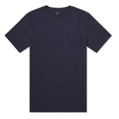 Mens Filson Outfit Pocket T-Shirt in Dark Navy