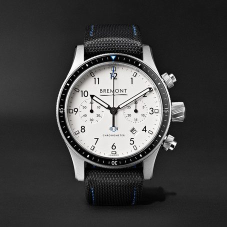 Mens Bremont Boeing Model 247 Automatic Chronometer 43mm Stainless Steel Watch in White