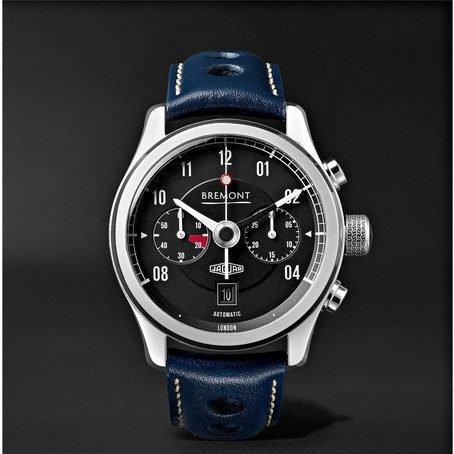 Mens Bremont Mkii Jaguar Automatic 43mm Stainless Steel And Alligator Watch in Black