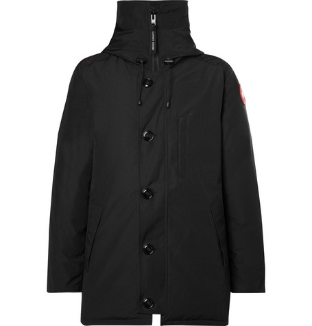 Mens Canada Goose Chateau Shell Hooded Down Parka Jacket in Black