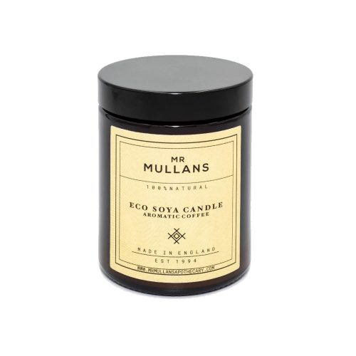 Mens Mr Mullans Apothecary Eco Soya Hand Poured Scented Candles in Aromatic Coffee