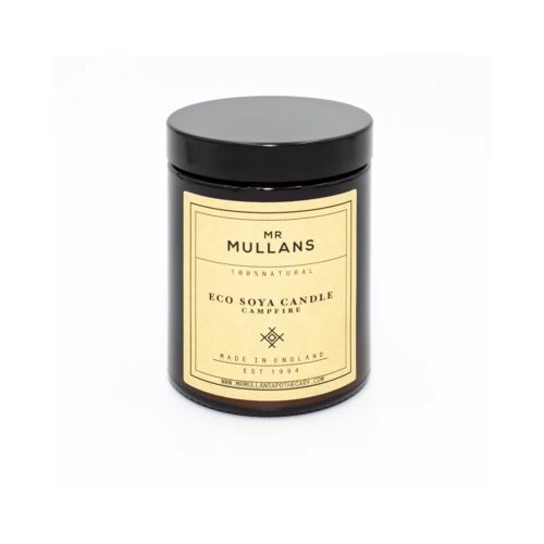 Mens Mr Mullans Apothecary Eco Soya Hand Poured Scented Candles in Campfire