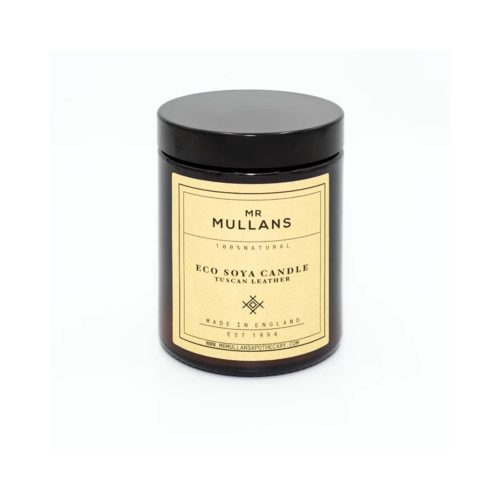 Mens Mr Mullans Apothecary Eco Soya Hand Poured Scented Candles in Tuscan Leather