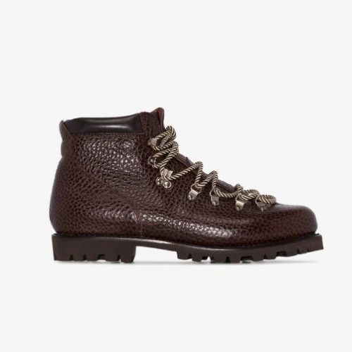 Mens Paraboot Avoriaz Bison Hiking Boots in Dark Brown