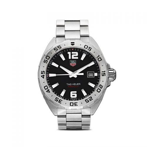 Mens Tag Heuer Formula 1 41mm Steel Watch in Black