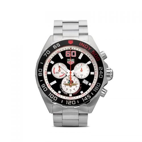 Mens Tag Heuer Formula 1 43mm Rhodium Plated / Aluminium & Steel Watch in Black