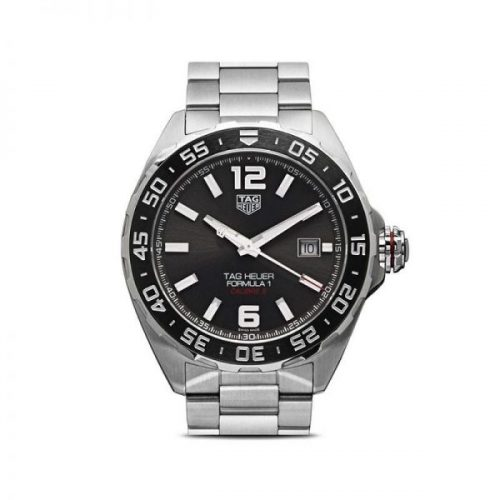 The Mens Tag Heuer Formula 1 Calibre 5 43mm Steel Watch in Anthracite Grey