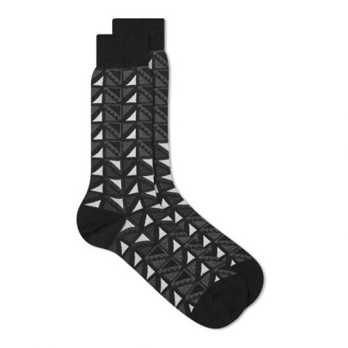 Mens Ayame Socks x C53 Flag Sock in Black & White
