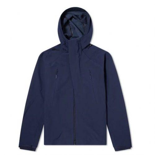 Mens Descente Allterrain Stretch Fleece Hooded Jacket in Navy