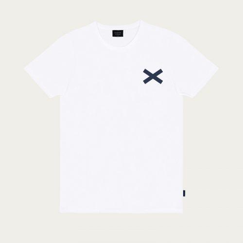 Mens Edmmond Studios Cross T-Shirt in White x