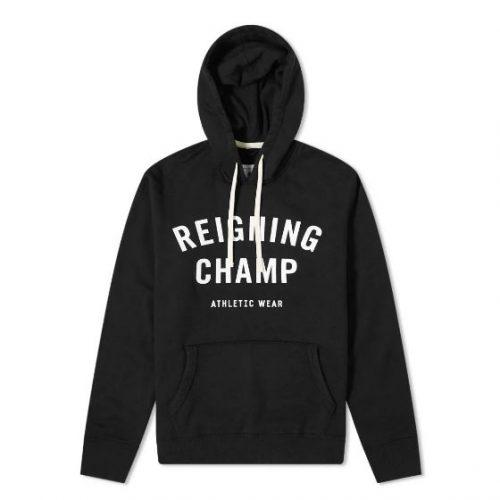 Mens Reigning Champ Gym Logo Hoody in Black
