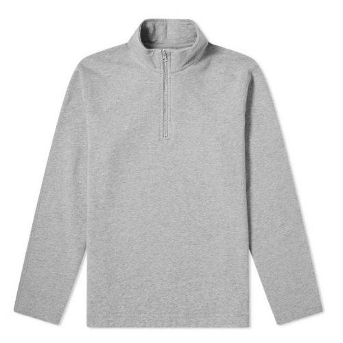 Mens Reigning Champ Half Zip Pullover Sweatshirt in Heather Grey