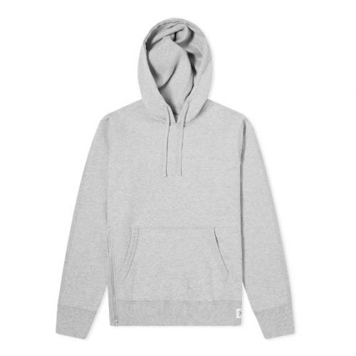 Mens Reigning Champ Side Zip Hoody in Heather Grey