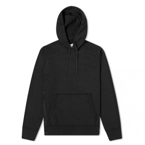 Mens Reigning Champ Side Zip Pullover Hoody in Black